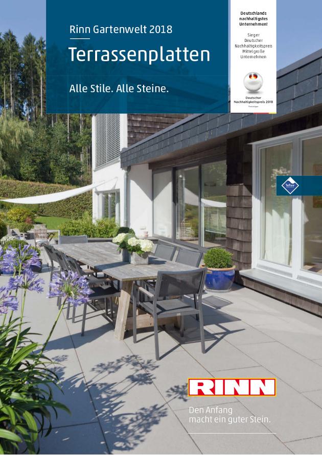 Abbildung des Titels des Terrassenplattenprospekts 2018