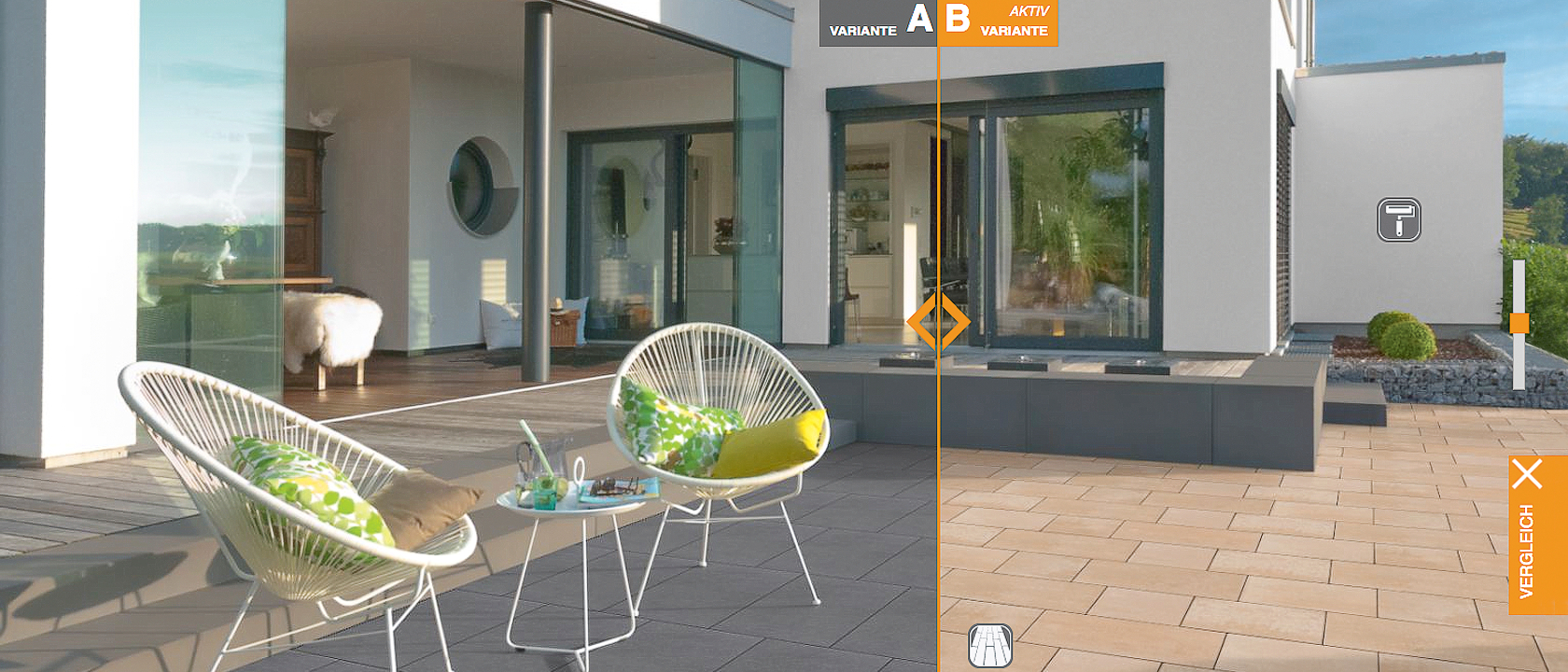 Screenshot des Programms Gartenvision, zum Visualisieren der Gartengestaltung.