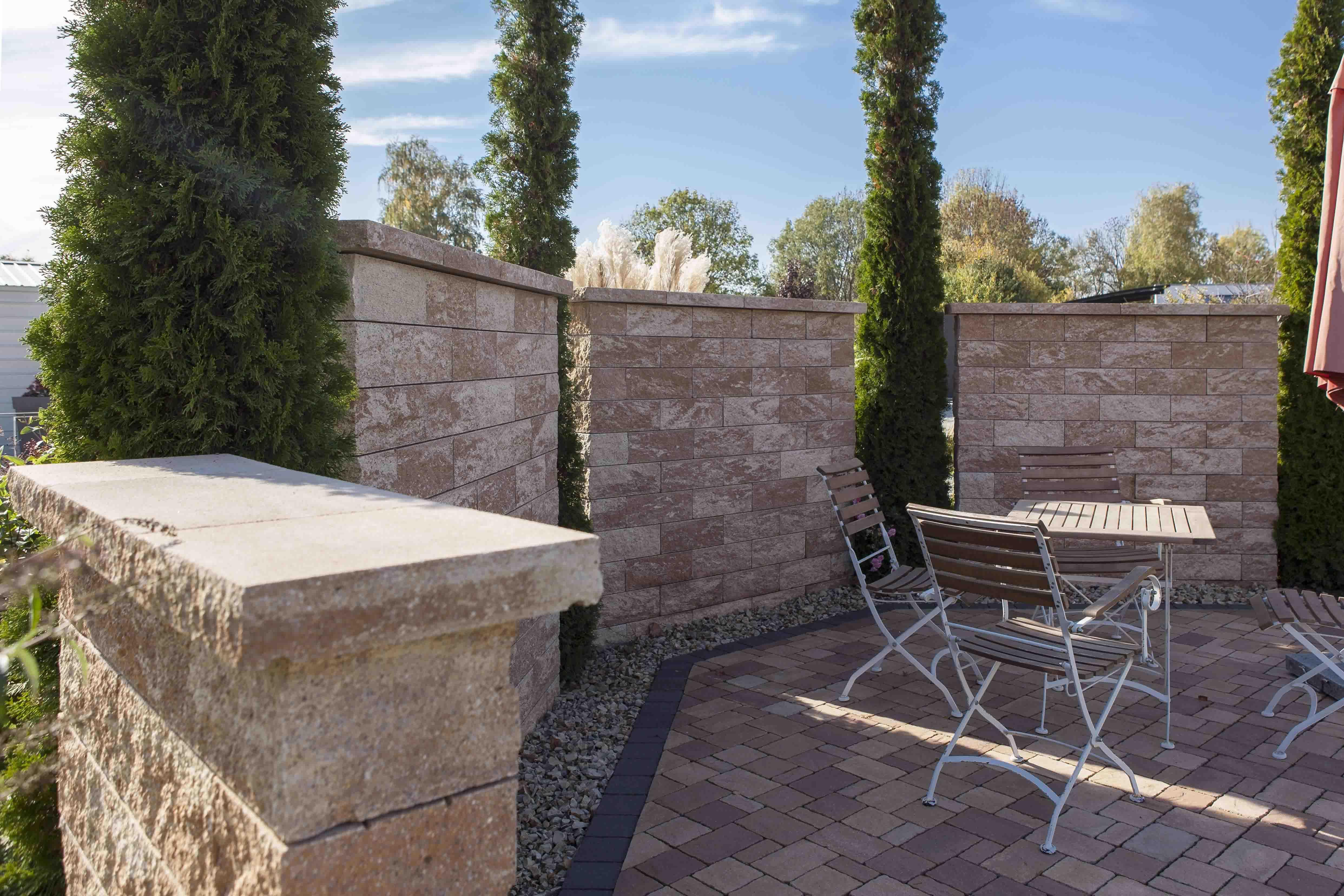Rustikale Gala Gartenmauer Von Rinn Mit Gerader Optik