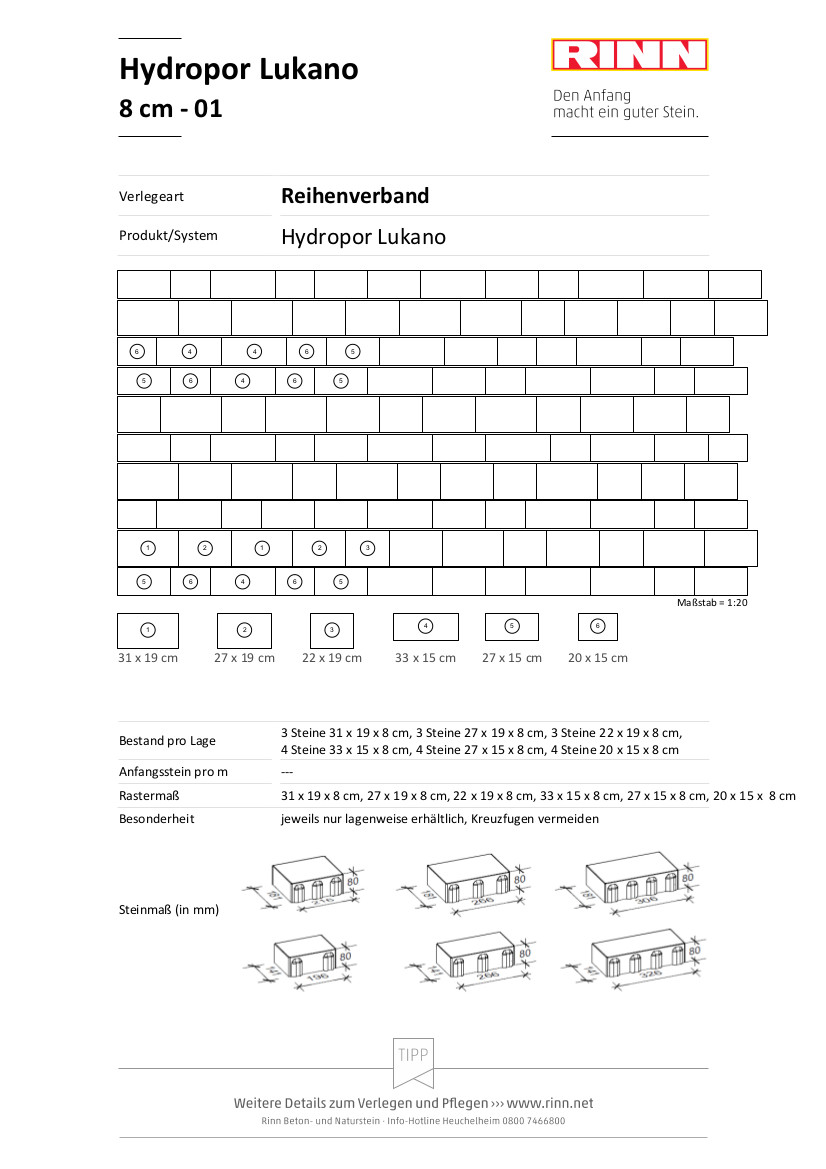 Hydropor Lukano|Reihenverband - 01
