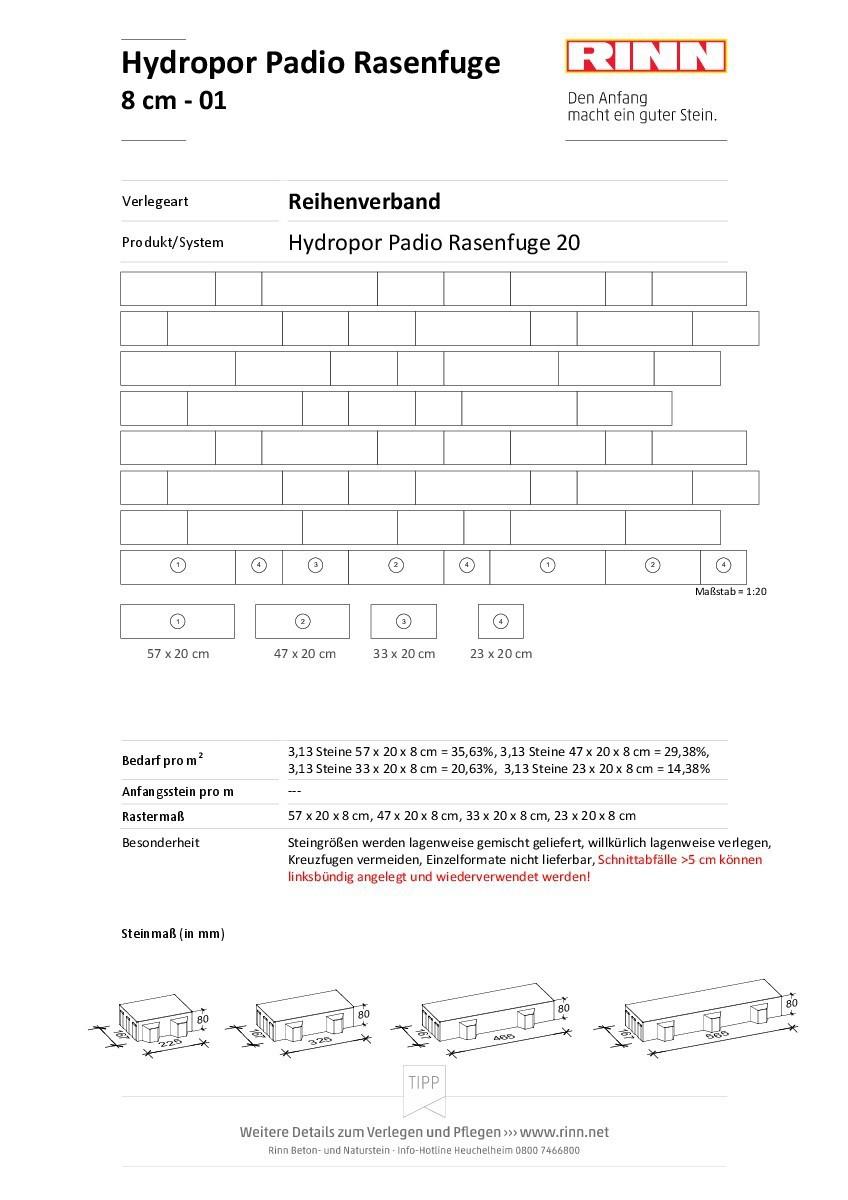 Hyd. Padio Rasenfuge|Reihenverband - 01