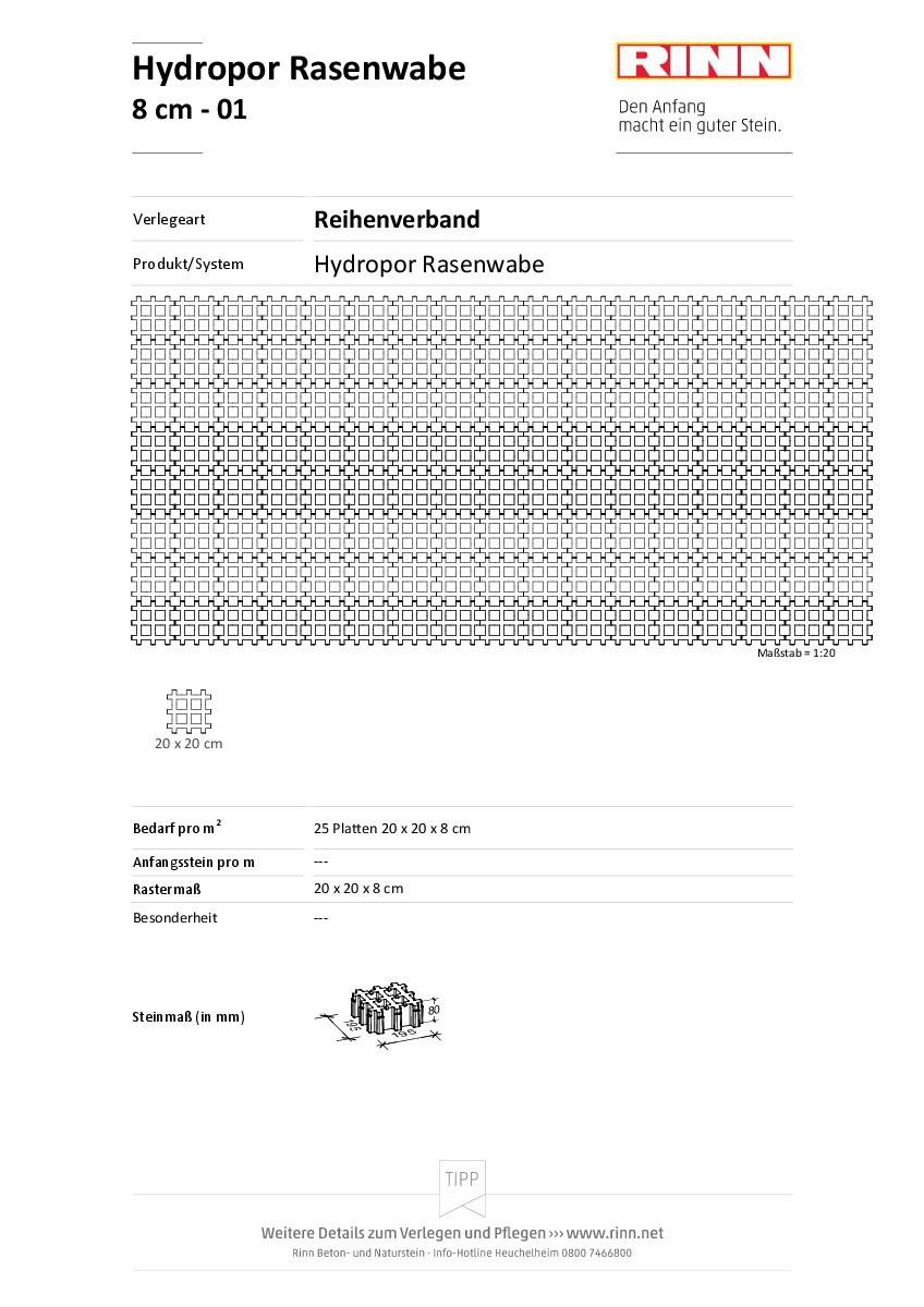 Hydropor Rasenwabe|Reihenverband - 01