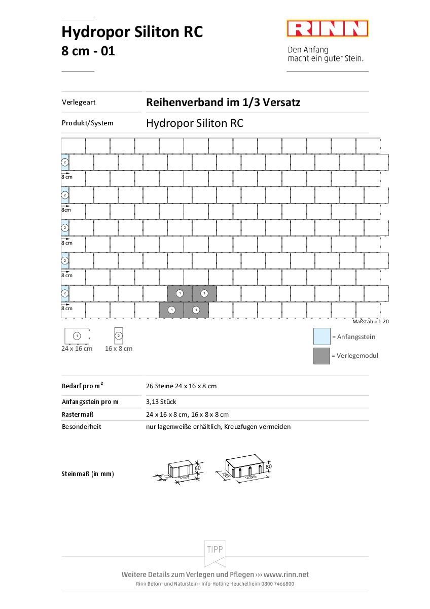 Hydropor Siliton RC 40|Reihenverband - 01
