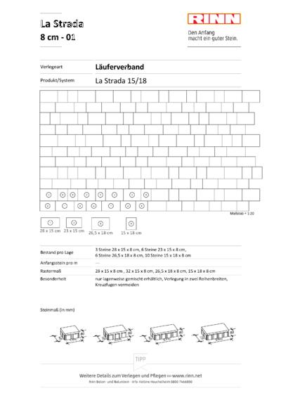 La Strada 8 cm|Läuferverband - 01