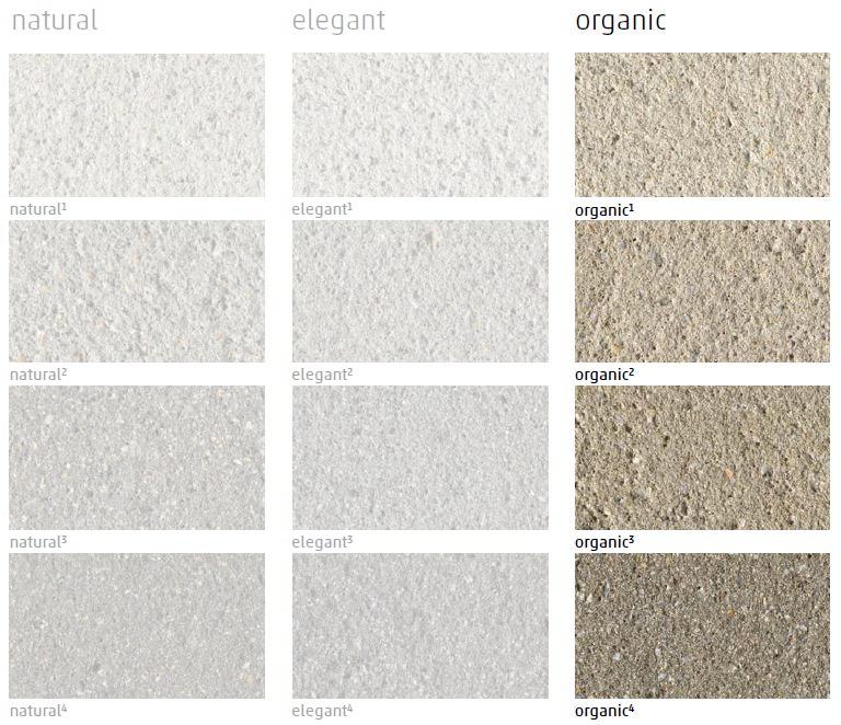 Alle neo³ Farben auf einen Blick: Mit organic als gewählte Farbrichtung markiert.