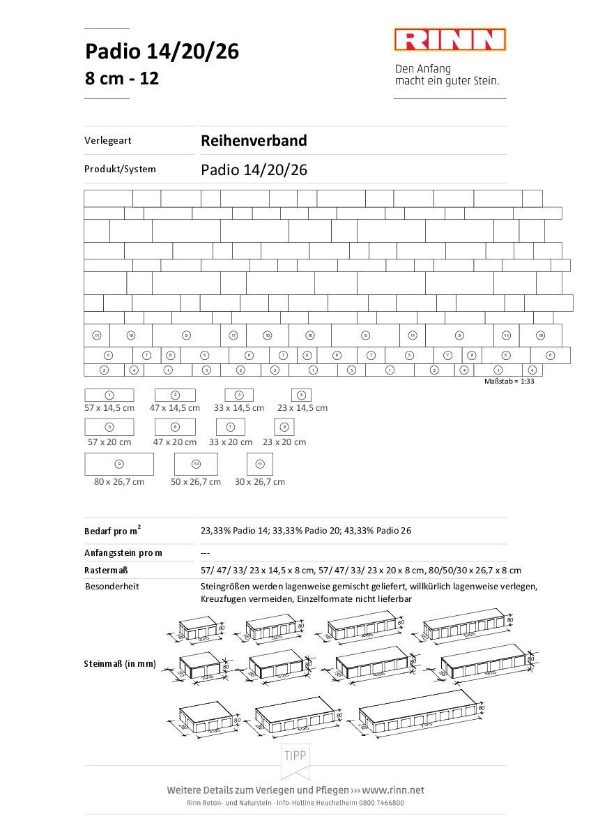 Padio® 14/20/26|Reihenverband - 12