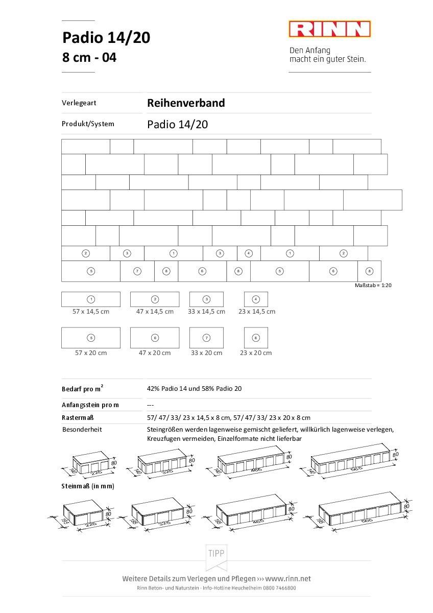 Padio® 14/20|Reihenverband - 04