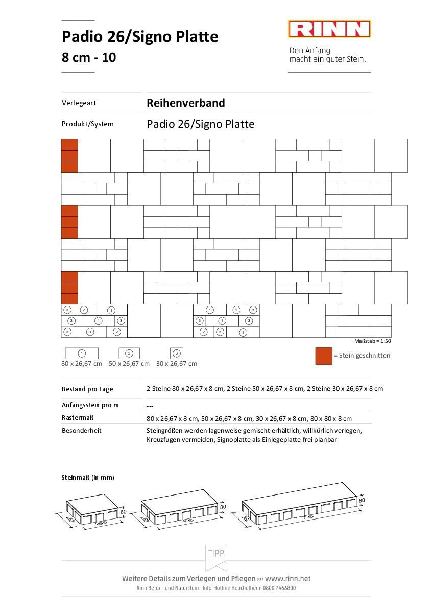 Padio® 26 / Signo Platte|Reihenverband - 10