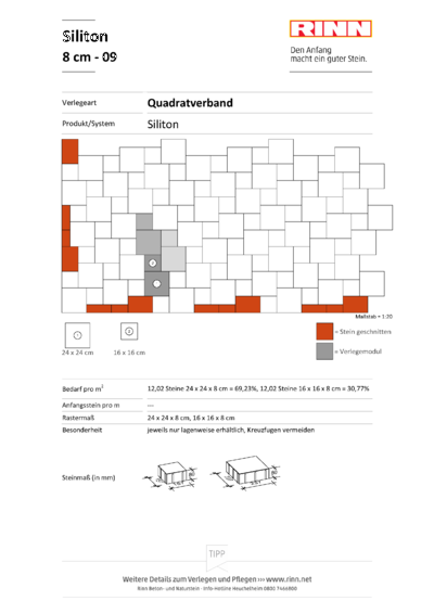 Siliton 8 cm|Quadratverband - 09