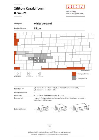 Siliton 3 er - Kombi 8 cm|wilder Verband - 21