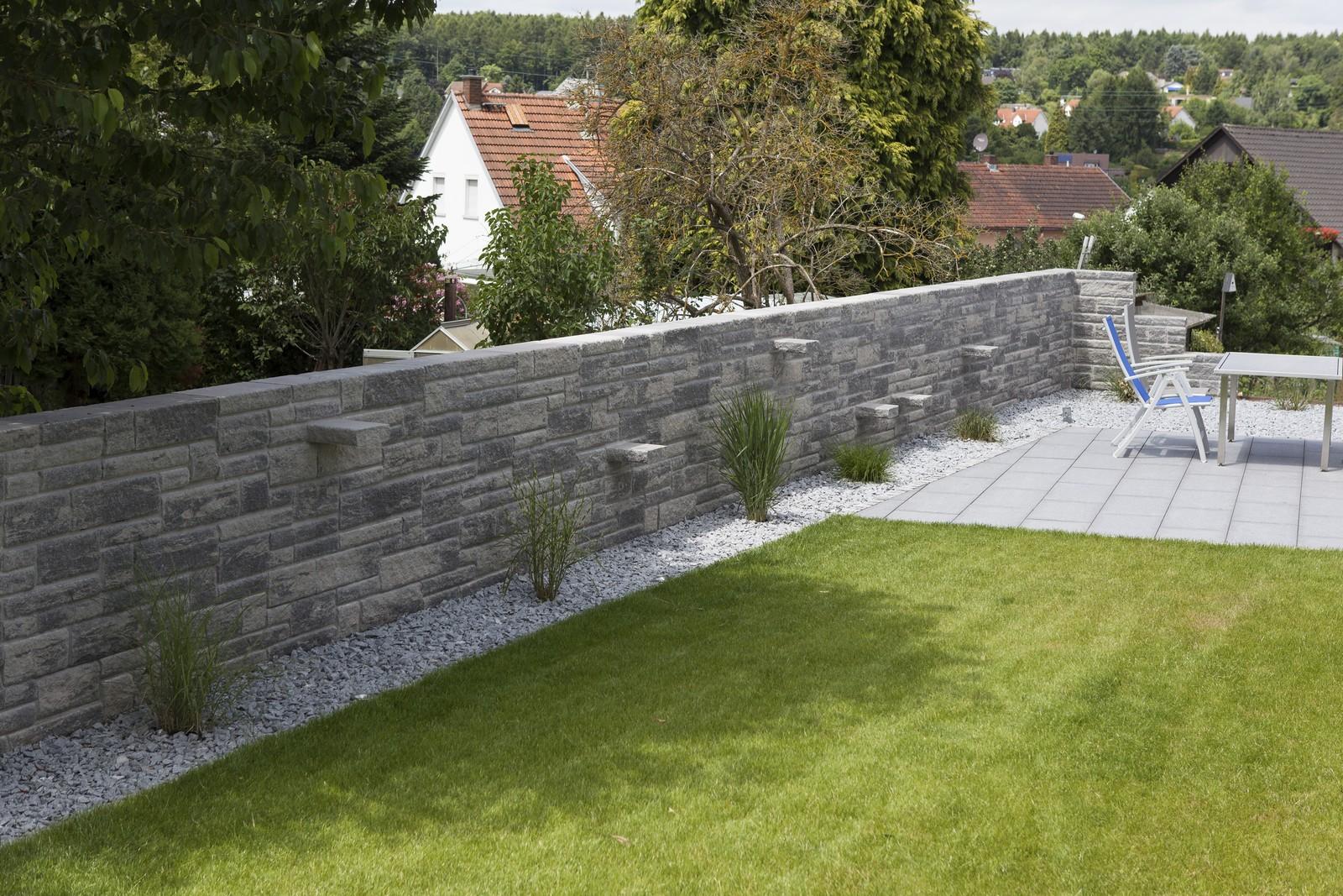 Mediterrane Toskana Steinmauer Fur Ihren Garten