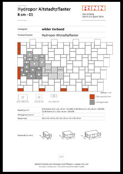 Hydropor Altstadtpflaster|wilder Verband - 01