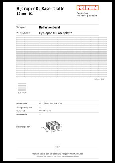 Hydropor KL-Rasenplatte|Reihenverband - 01