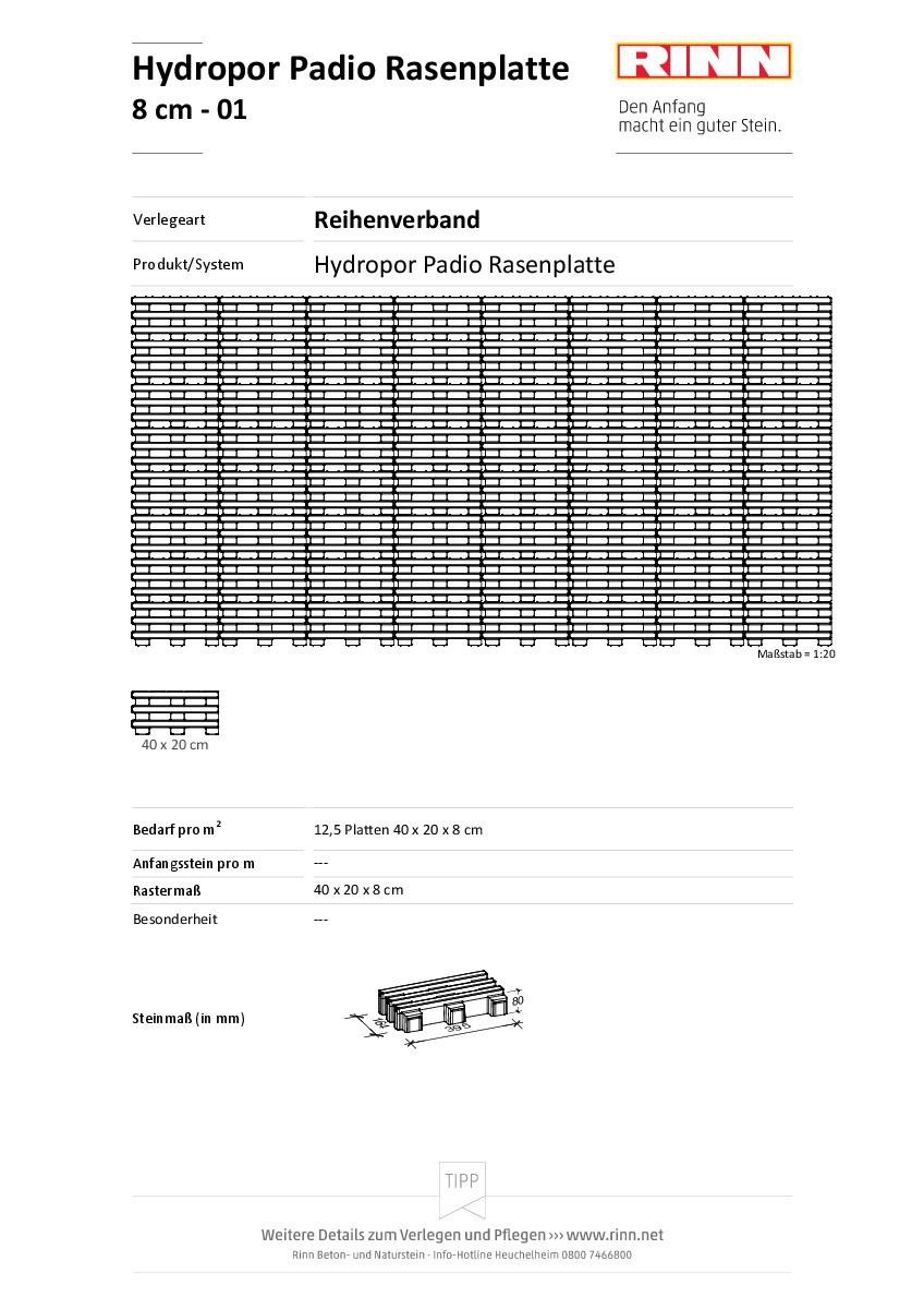 Hyd. Padio Rasenplatte|Reihenverband - 01