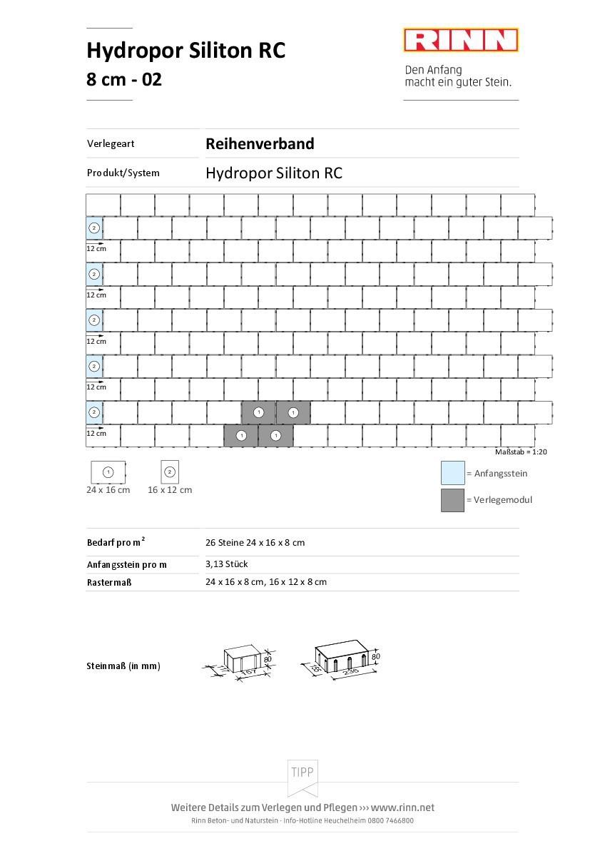 Hydropor Siliton RC 40|Reihenverband - 02