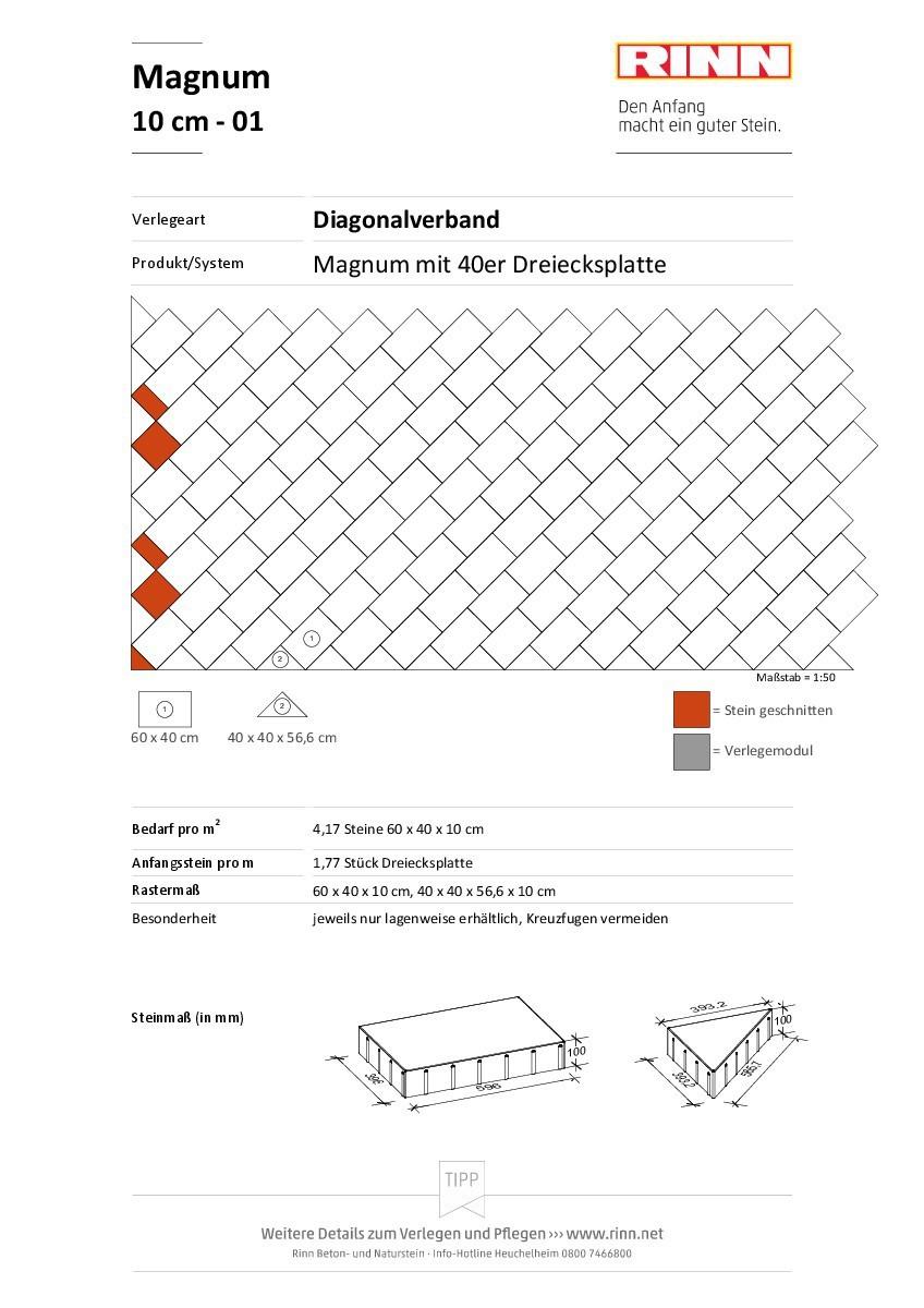 Magnum 10 cm|Diagonalverband - 01