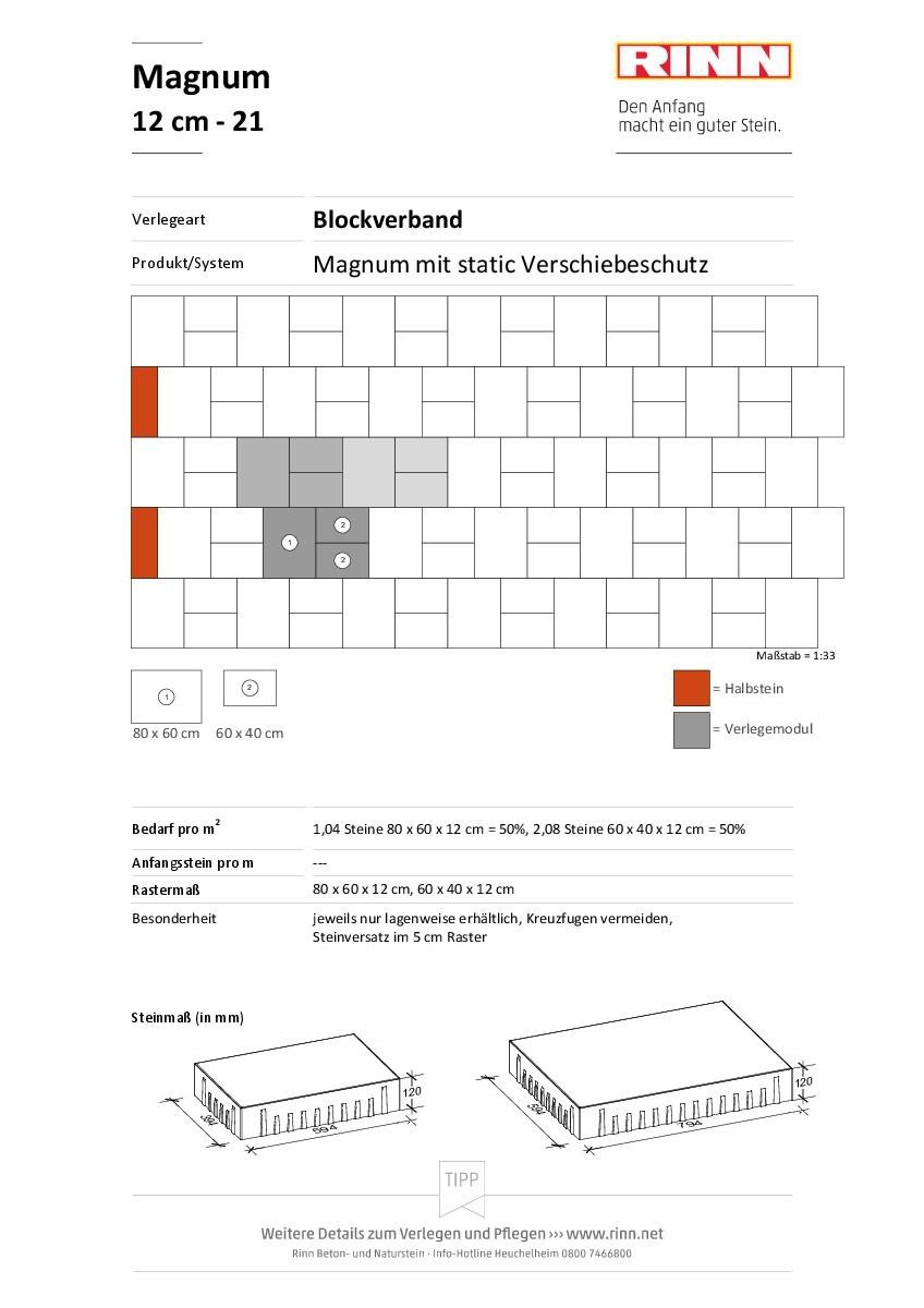Magnum 12 cm|Blockverband - 21