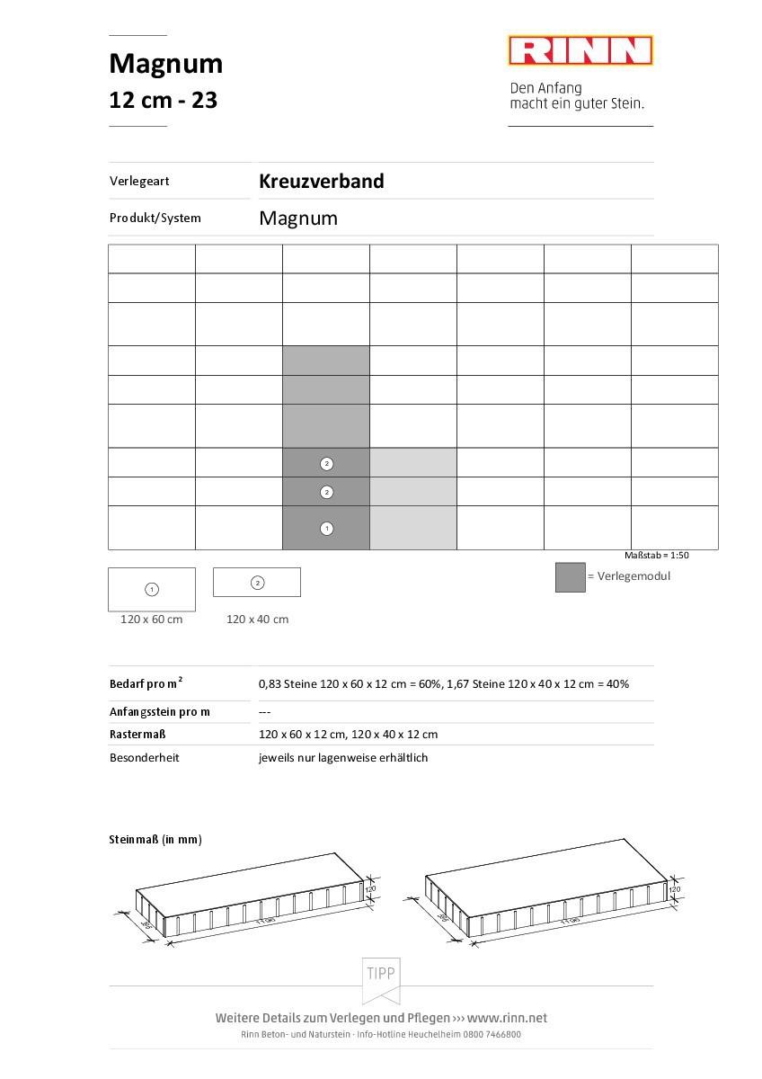 Magnum 12 cm|Kreuzverband - 23