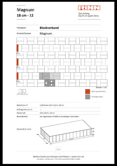Magnum 18 cm|Blockverband - 12