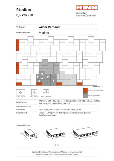Medino Platten|wilder Verband - 01