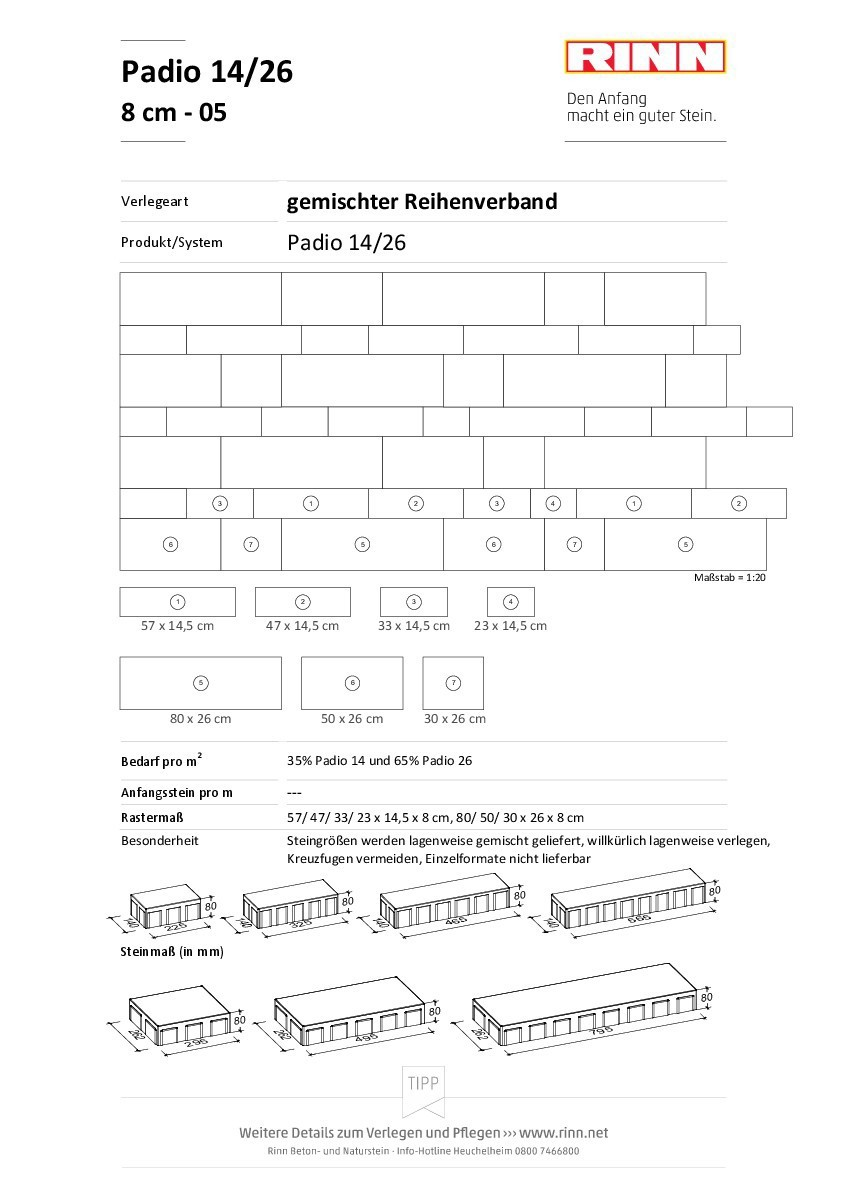 Padio® 14/26|Reihenverband - 05