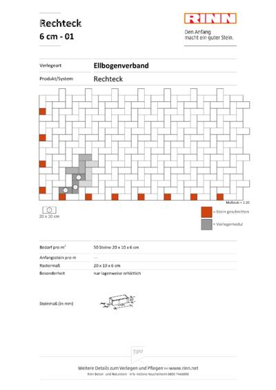 Rechteck/ Quadrat 6 cm|Ellbogenverband - 01