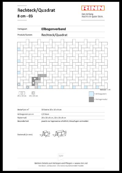 Rechteck/ Quadrat 8 cm|Ellbogenverband - 03
