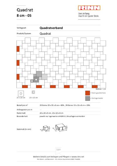 Rechteck/ Quadrat 8 cm|Quadratverband - 05