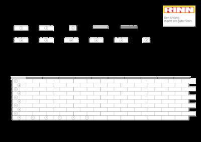Romano Mauer|Maueraufmaßbogen