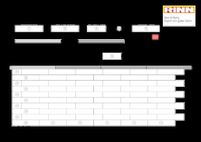 Scona Mauer|Maueraufmaßbogen