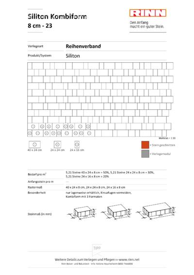 Siliton 3er - Kombi 8 cm|Reihenverband - 23