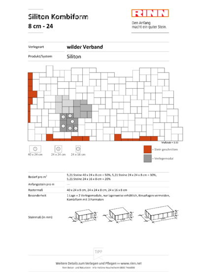 Siliton 3er - Kombi 8 cm|wilder Verband - 24