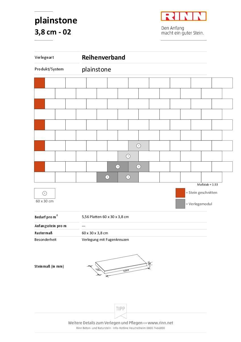 plainstone Platten|Reihenverband - 02