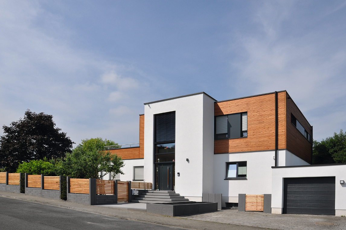 Moderne Gestaltung der Außenanlage